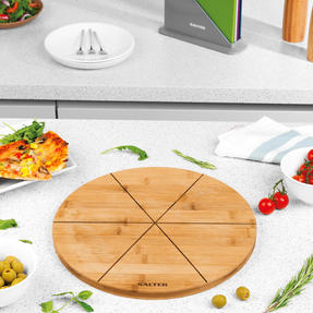 Six Slice Bamboo Pizza Serving Board, 12 Inches/30 cm Thumbnail 9
