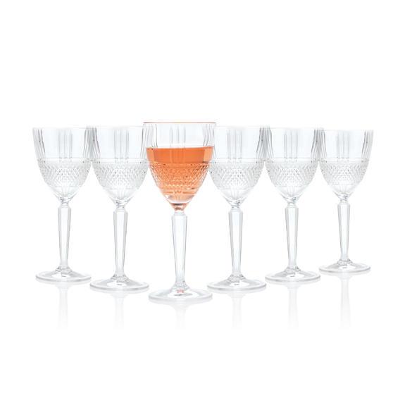 RCR 26966020006 Brillante Red Wine Glasses, 230 ml, Set of 6