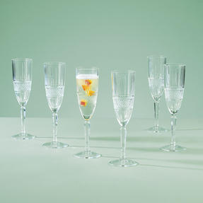 RCR 26968020006 Brillante Champagne Flutes, 185 ml, Set of 6 Thumbnail 2