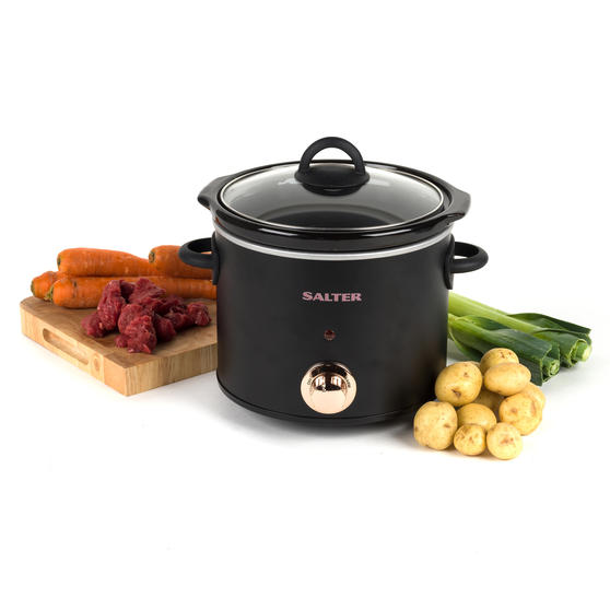 Rose Gold Slow Cooker with Three Heat Settings, 3.5 Litres