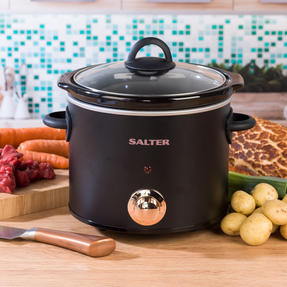 Rose Gold Slow Cooker with Three Heat Settings, 3.5 Litres Thumbnail 2