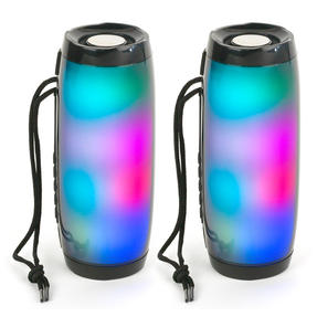 Intempo COMBO-5457 Rechargeable Bluetooth LED Light up Speaker for iPhone, Android and Other Smart USB Devices, Set of 2