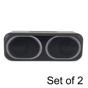 Intempo COMBO-5470 Tempo WDS95 Wireless Bluetooth Speaker with LED Lights, 2 x 5 W Speakers, Set of 2