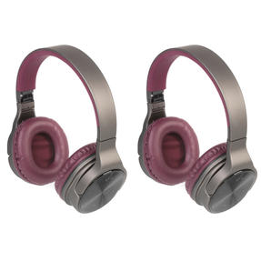 Intempo COMBO-5477 Opulence WDS25 Wireless Bluetooth Headphones, Gold/Berry, 2 Pairs