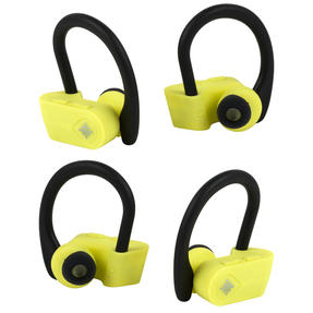 Intempo COMBO-5483 Active TWS 10 Wireless Bluetooth Earphones, Yellow/Black, 2 Pairs