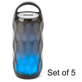 Galaxy WDS82 LED Colour-Changing Crystal Wireless Bluetooth Speaker, Set of 5