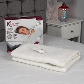 Kleeneze COMBO-5495 Machine Washable Electric Heated Under Blanket, 35 W, Single, Set of 2 Thumbnail 2
