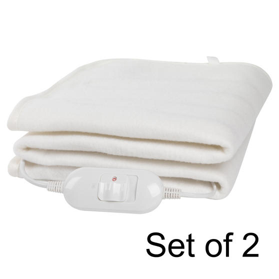 Machine Washable Electric Heated Under Blanket, 70 W, King, Set of 2