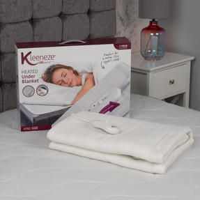 Kleeneze COMBO-5496 Machine Washable Electric Heated Under Blanket, 70 W, King, Set of 2 Thumbnail 3