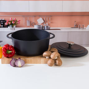 Vivo by Villeroy & Boch COMBO-5296 Casserole Pot, 4.2 Litres, 24 cm, Black, Set of 2 Thumbnail 2
