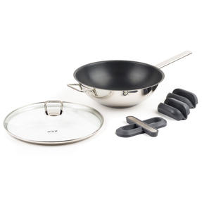 Vivo by Villeroy & Boch COMBO-5300 Non-Stick Wok with Silicone Trivet and Pot Holders, 30 cm Thumbnail 3