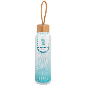 Cambridge COMBO-5406 Scope Glass Water Bottle with Bamboo Lid & Carry Handle, 550 ml, Set of 2 Thumbnail 7