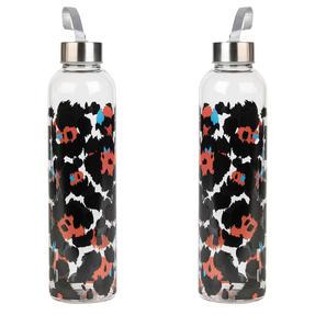 Cambridge COMBO-5411 Pop Animal Glass Bottle, 750 ml, Reusable, Leak-proof, Set of 2 Thumbnail 1