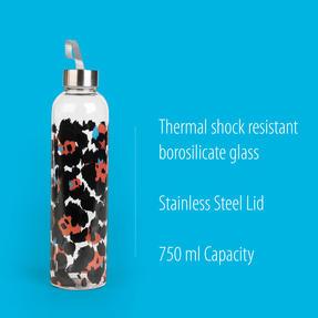 Cambridge COMBO-5411 Pop Animal Glass Bottle, 750 ml, Reusable, Leak-proof, Set of 2 Thumbnail 2