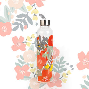 Cambridge CM06995 Stylish Florencia Glass Bottle with Stainless Steel lid, 750 ml, Leak- proof, Reusable Thumbnail 4