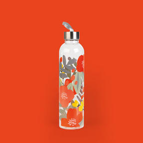 Cambridge CM06995 Stylish Florencia Glass Bottle with Stainless Steel lid, 750 ml, Leak- proof, Reusable Thumbnail 7
