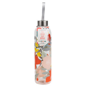 Cambridge CM06995 Stylish Florencia Glass Bottle with Stainless Steel lid, 750 ml, Leak- proof, Reusable Thumbnail 8