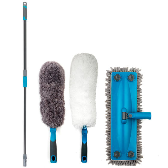 Beldray Click and Connect Set with Two Duster Heads and Chenille Floor Mop