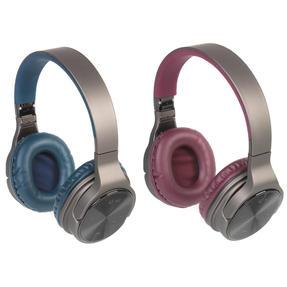 Intempo COMBO-5476 Opulence Wireless Bluetooth Headphones, Navy/Berry, 2 Pairs