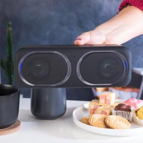 Intempo COMBO-5500 Folding Clarity Black Headphones with Wireless LED Bluetooth Speaker Thumbnail 4