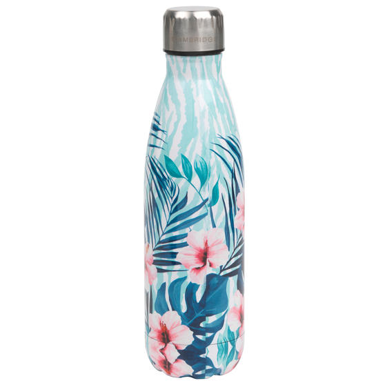 Cambridge CM07014 Tropical Hibiscus Thermal Insulated Flask Bottle, 500 ml, Stainless Steel