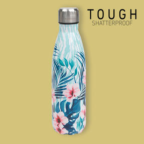 Cambridge CM07014 Tropical Hibiscus Thermal Insulated Flask Bottle, 500 ml, Stainless Steel Thumbnail 2