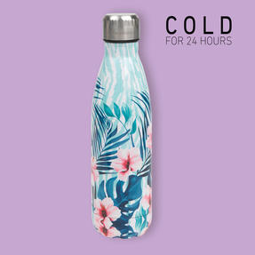 Cambridge CM07014 Tropical Hibiscus Thermal Insulated Flask Bottle, 500 ml, Stainless Steel Thumbnail 3