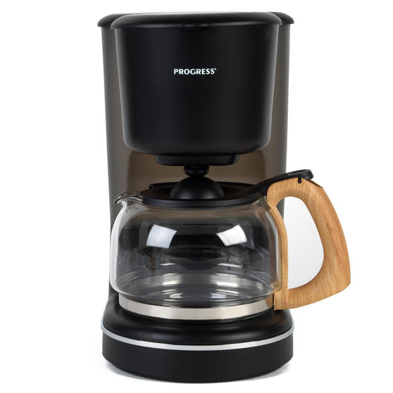 Progress EK3757PBLK Scandi Coffee Maker, 1080 W, 1.25 L, Black