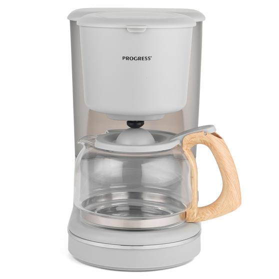 Progress EK3757PGRY Scandi Coffee Maker, 1080 W, 1.25 L, Grey