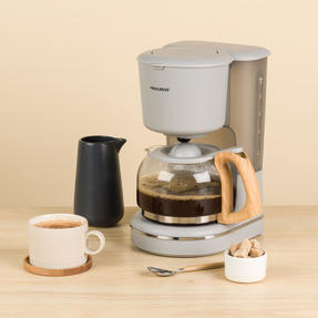 Progress EK3757PGRY Scandi Coffee Maker, 1080 W, 1.25 L, Grey Thumbnail 2