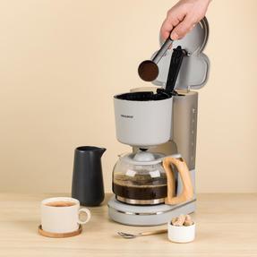 Progress EK3757PGRY Scandi Coffee Maker, 1080 W, 1.25 L, Grey Thumbnail 4