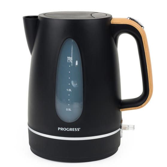Progress EK3758PBLK Scandi Jug Kettle, 3000 W, 1.5 L, Black