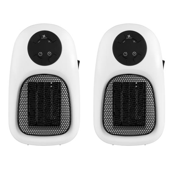 Beldray COMBO-3939 Compact Digital Plug-In Portable Heater with LED Display, 500 W, Set of 2