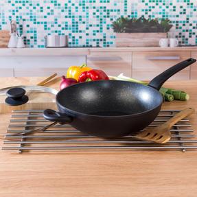 Salter COMBO-4834 Marble Gold Non-Stick Frying Pan, Saucepan and Wok Set, 7 Piece Thumbnail 7
