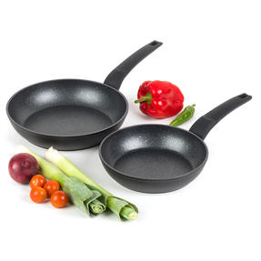Salter COMBO-4845 Marble Gold Non-Stick Frying Pan Set, 20/24 cm, 2 Piece Thumbnail 1