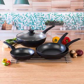 Salter COMBO-4847 Marble Gold Non-Stick Frying Pan and Wok Set, 20/24/28 cm, 4 Piece Thumbnail 10