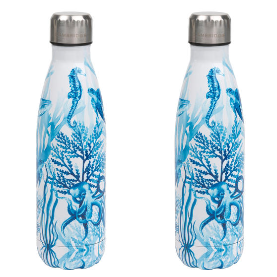 Ocean Thermal Insulated Flask Bottle, 500 ml, Stainless Steel, Set of 2