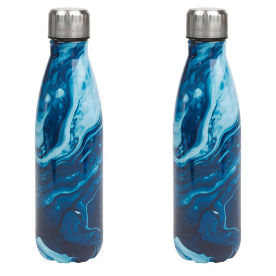 Blue Marble Thermal Insulated Flask Bottle, 500 ml, Stainless Steel, Set of 2