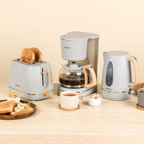 Progress COMBO-5151 Scandi Breakfast Appliance Set with 2-Slice Toaster, Coffee Maker and Jug Kettle, Grey Thumbnail 2