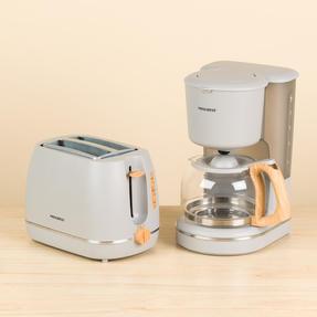 Progress COMBO-5156 Scandi Breakfast Appliance Set with 2-Slice Toaster and Coffee Maker, 870/1080 W, Grey Thumbnail 3