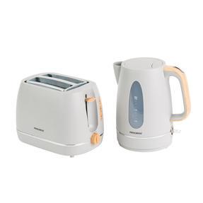 Progress Scandi Breakfast Appliance Set with Jug Kettle and Coffee Maker, 3000/1080 W, Grey