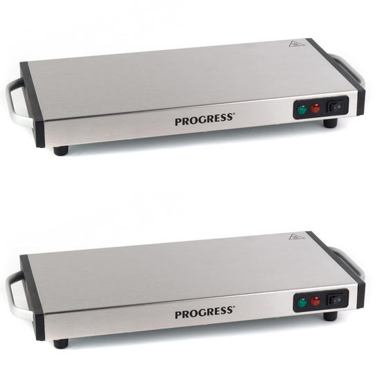 Progress COMBO-4770 Cordless Hot Plate Duo, 1200 W, Set of 2