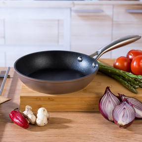 Salter COMBO-5386 Forged Aluminium Metallic Non-Stick Frying Pan Set, 20/28 cm, Champagne, 2 Piece Thumbnail 4