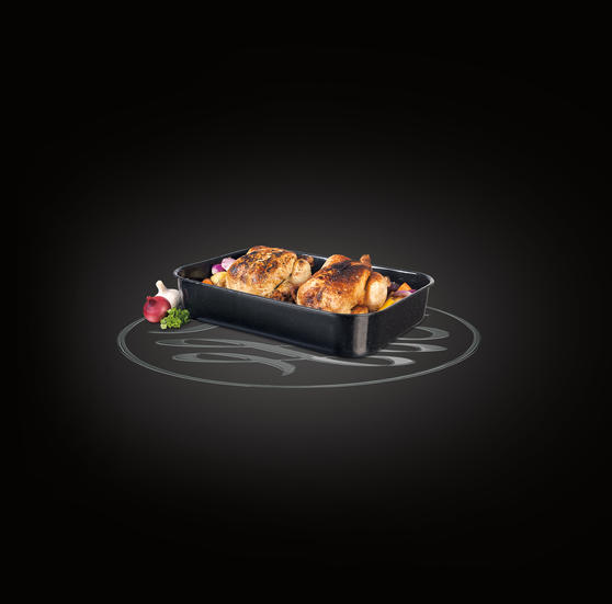 Russell Hobbs CW11431 Romano Vitreous Enamel Deep Roaster, 42 cm, Black Preview