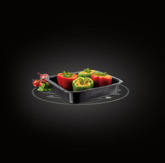 Russell Hobbs BW000751 Romano Vitreous Enamel Square Baking Pan, 26 cm, Black