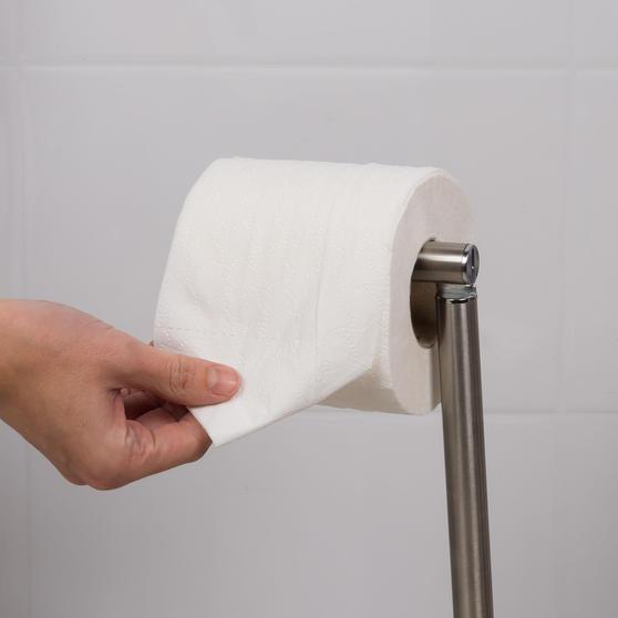 Beldray LA068699EU Swivel Top Toilet Roll Holder, Stainless Steel Main Image 3