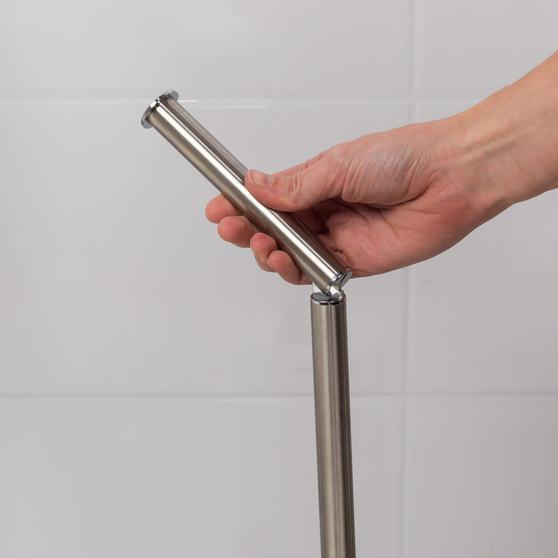 Beldray LA068699EU Swivel Top Toilet Roll Holder, Stainless Steel Main Image 6