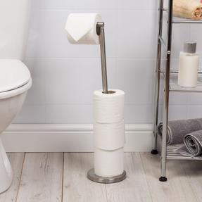 Beldray LA068699EU Swivel Top Toilet Roll Holder, Stainless Steel Thumbnail 2