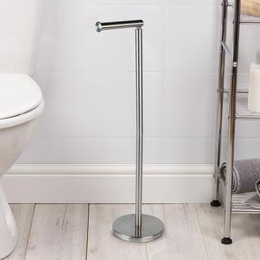 Beldray LA068699EU Swivel Top Toilet Roll Holder, Stainless Steel Thumbnail 5