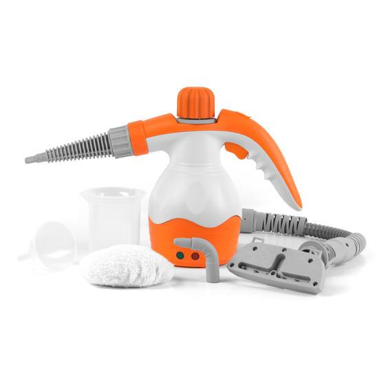 Beldray BEL0573FSFOB 10 in 1 Handheld Steam Cleaner, 1100 W, Orange/White Thumbnail 1